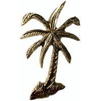 Emenee MK1223ABB, Knob, Palm Tree, Antique Bright Brass