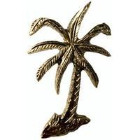 Emenee MK1223ABB, Knob, Palm Tree, Antique Bright Brass