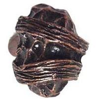 Emenee OR127ACO, Knob, Hammered, Antique Matte Copper