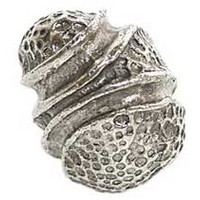 Emenee OR129ABS, Knob, Stipple Knot, Antique Bright Silver