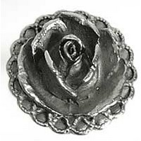 Emenee OR157AMS, Knob, Rose, Antique Matte Silver