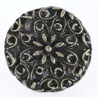 Emenee OR159ABS, Knob, Large Flower Filigree, Antique Bright Silver