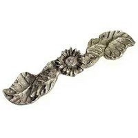 Emenee OR163ABS, Handle, Sunflower, Antique Bright Silver