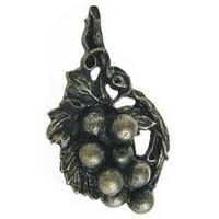 Emenee OR196ABR, Knob, Grape Vine, Antique Matte Brass