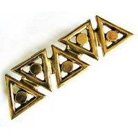 Emenee OR198ABB, Handle, Triangle, Antique Bright Brass