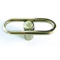 Emenee OR217ABB, Knob, Racetrack, Antique Bright Brass