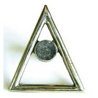 Emenee OR197ABS, Knob, Triangle, Antique Bright Silver