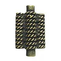 Emenee OR224ACO, Knob, Triple Rope Design, Antique Matte Copper