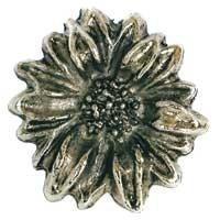 Emenee OR263ABS, Knob, Sunflower, Antique Bright Silver