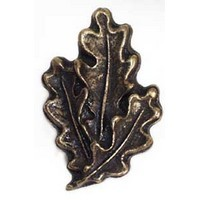 Emenee OR278ABB, Knob, Oak Leaf, Antique Bright Brass