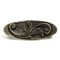 Emenee OR311ABS, Pull, Elegant Oval, Antique Bright Silver