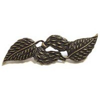 Emenee OR314ABS, Pull, Double Leaf, Antique Bright Silver