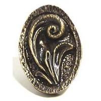 Emenee OR315ACO, Knob, Elegant Oval, Antique Matte Copper
