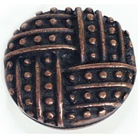 Emenee OR111ACO, Knob, Lines With Dots, Antique Matte Copper