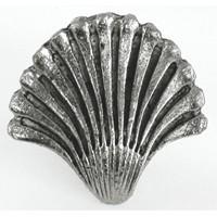 Emenee OR113ABS, Knob, Seashell Fan, Antique Bright Silver