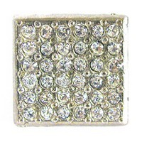 Emenee OR167BS, Knob, Small Square Rhinestone, Bright Silver