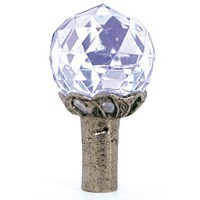 Emenee OR170ABS, Knob, Small Round Crystal, Antique Bright Silver