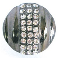 Emenee OR172BS, Knob, Small Round Rhinestone, Bright Silver