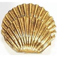 Emenee OR206AMS, Knob, Round Seashell, Antique Matte Silver