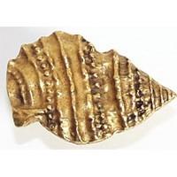 Emenee OR207ACO, Knob, Pointed Seashell, Antique Matte Copper