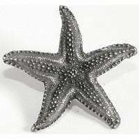 Emenee OR208AMS, Knob, Starfish, Antique Matte Silver