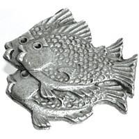 Emenee OR210ABB, Knob, School Of Fish (L), Antique Bright Brass