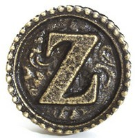 Emenee OR250ACO, Knob, Z, Antique Matte Copper