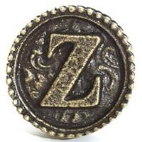 Emenee OR250AMS, Knob, Z, Antique Matte Silver