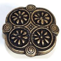 Emenee OR261ACO, Knob, 4 Daisy, Antique Matte Copper