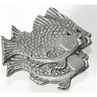 Emenee OR285AMS, Knob, School Of Fish (R), Antique Matte Silver