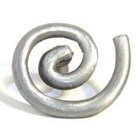 Emenee OR294ABR, Knob, Solid Swirl, Antique Matte Brass