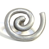 Emenee OR294ABS, Knob, Solid Swirl, Antique Bright Silver