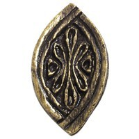 Emenee OR318ACO, Knob, Baroque, Antique Matte Copper