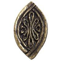 Emenee OR318ABS, Knob, Baroque, Antique Bright Silver