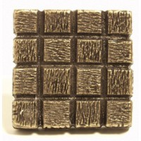 Emenee OR338ABS, Knob, Textured Square, Antique Bright Silver