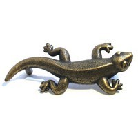 Emenee OR368ABR, Handle, Gecko, Antique Matte Brass