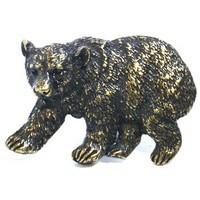 Emenee OR373ABR, Knob, Bear, Antique Matte Brass