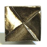Emenee OR374ACO, Knob, Notched Square, Antique Matte Copper