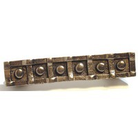 Emenee OR378AMS, Handle, 6-Button, Antique Matte Silver