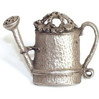 Emenee PFR126ABS, Knob, Watering Can, Antique Bright Silver