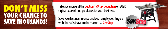 Take advantage of 2020 Section 179 Tax Deductions on capital expenditures