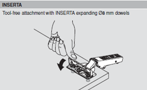 Image of Tool-free fixing a hinge