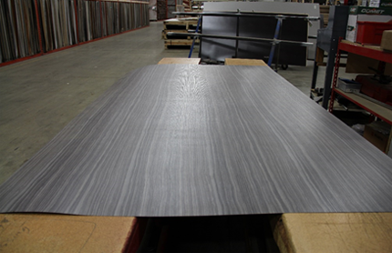 Sheet of laminate on the table