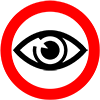 icon image of Eye in red circle