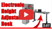 WE Preferred Adjustable Height Desk / Electric Table Lift video clip