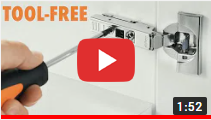 What is a Tool-Less Cabinet Door Hinge video clip