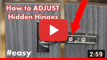 How to adjust kitchen cabinet hinges video clip