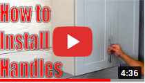 How to Install Cabinet Door Handles & Pulls – Decorative Hardware Installation video clip