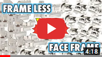 Face-Frame Cabinet vs Frameless Cabinet video clip