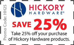 Hickory Hardware Coupon for 25% off Hickory Hardware products - Coupon HH25